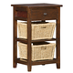 Hillsdale Tuscan Retreat™ Two Basket, One Drawer Open Side Stand in Park Avenue 4793-940W
