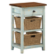 Hillsdale Tuscan Retreat™ Two Basket, One Drawer Open Side Stand in Sea Blue 5362-940W
