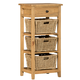 Hillsdale Tuscan Retreat™ Three Basket, One Drawer Open Side Stand in  Light Weather Pine 4443-941W