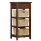 Hillsdale Tuscan Retreat™ Three Basket, One Drawer Open Side Stand in Park Avenue 4793-941W