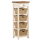 Hillsdale Tuscan Retreat™ Four Basket, One Drawer Open Side Stand in Country White 5465-942W