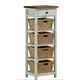 Hillsdale Tuscan Retreat™ Four Basket, One Drawer Open Side Stand in Sea Blue 5362-942W