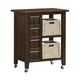 Hillsdale Tuscan Retreat™ Kitchen Cart with Four Drawers & Two Shelves with Two Baskets in Park Avenue 4793-883W