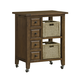 Hillsdale Tuscan Retreat™ Kitchen Cart with Four Drawers & Two Shelves with Two Baskets in Antique Pine 5225-883W