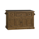 Hillsdale Tuscan Retreat™ Three Drawer Four Door Large Granite Top Kitchen Island in Antique Pine 5225-916W