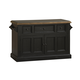 Hillsdale Tuscan Retreat™ Three Drawer Four Door Large Granite Top Kitchen Island in Black 5267-916W