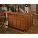 Hillsdale Classic Large Bar with Side Bar in Oak 62576A/86A/77A