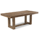 Cresent Fine Furniture Waverly Trestle Dining Table in Driftwood 5550
