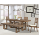 Cresent Fine Furniture Waverly 6pc Trestle Dining Set in Driftwood