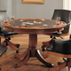Hillsdale Park View Game Table in Medium Brown Oak 4186-810/811