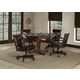 Hillsdale Ambassador 5pc Game Room Set in Medium Brown Cherry
