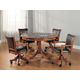 Hillsdale Park View 5pc Game Room Set in Medium Brown Oak