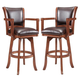 Hillsdale Park View Game Swivel Bar Stool in Medium Brown Oak (Set of 2) 4186-830