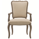 Bernhardt Auberge Upholstered Dining Arm Chair in Weathered Oak 351-542A (Set of 2)