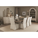 Bernhardt Auberge 9pc Dining Table Set in Weathered Oak