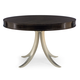 Bernhardt Haven Round Dining Table with Metal Base in Raven 346272R-273