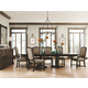 Bernhardt Pacific Canyon 9pc Double Pedestal Dining Table Set in Coffee Bean