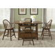 Liberty Furniture Hearthstone 5 Piece Center Island Dining Set in Rustic Oak