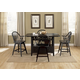 Liberty Furniture Hearthstone 5 Piece Center Island Dining Set in Black