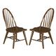 Liberty Furniture Hearthstone Windsor Back Side Chair  in Rustic Oak (Set of 2) 382-C1000S