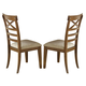 Liberty Furniture Hearthstone X Back Side Chair in Rustic Oak (Set of 2) 382-C3001S