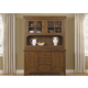 Liberty Furniture Hearthstone Buffet with Hutch in Rustic Oak 382-CBH6183 CLEARANCE