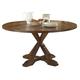 Liberty Furniture Hearthstone Drop Leaf Pedestal Table in Rustic Oak 382-PT6060