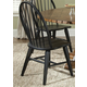 Liberty Furniture Hearthstone Windsor Back Side Chair  in Black (Set of 2) 482-C1000S