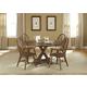 Liberty Furniture Hearthstone 5 Piece Drop Leaf Pedestal Dining Set in Rustic Oak