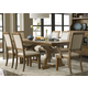 Liberty Furniture Town & Country 7 Piece TrestleTable Dining Set in Sandstone
