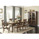 Liberty Furniture Rustic Tradition 7 Piece Rectangular Leg Dining Set in Rustic Cherry