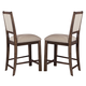 Liberty Furniture Franklin Upholstered Counter Chair in Rustic Brown (Set of 2) 202-B650124