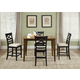 Liberty Furniture Hearthstone 5 Gathering Table Dining Set in Rustic Oak