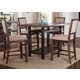 Liberty Furniture Franklin 5 Piece Gathering Dining Set in Rustic Brown