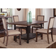 Liberty Furniture Franklin 5 Piece Rectangular Leg Dining Set in Rustic Brown