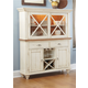 Liberty Furniture Ocean Isle Buffet with Hutch in Bisque with Natural Pine 303-CBH4866