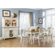 Liberty Furniture Ocean Isle 7 Piece Rectangular Leg Dining Set in Natural Pine