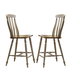 Liberty Furniture Al Fresco Slat Back Counter Chair (Set of 2) in Driftwood/ Taupe 541-B150024