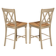 Liberty Furniture Al Fresco Double X Back Counter Chair (Set of 2) in Driftwood/ Taupe 541-B300024