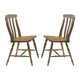 Liberty Furniture Al Fresco Slat Back Side Chair (Set of 2) in Driftwood/ Taupe 541-C1500S