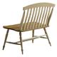 Liberty Furniture Al Fresco Slat Back Bench in Driftwood/ Taupe 541-C9000B