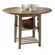 Liberty Furniture Al Fresco Drop Leaf Leg Table in Driftwood/Taupe 541-T4242