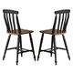 Liberty Furniture Al Fresco Slat Back Counter Chair (Set of 2) in Driftwood/Black 641-B150024