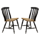 Liberty Furniture Al Fresco Slat Back Side Chair (Set of 2) in Driftwood/Black 641-C1500S