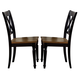 Liberty Furniture Al Fresco Double X Back Side Chair (Set of 2) in Driftwood/Black 641-C3000S