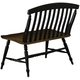 Liberty Furniture Al Fresco Slat Back Bench in Driftwood/Black 641-C9000B