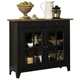 Liberty Furniture Al Fresco Server in Driftwood/Black 641-SR5043