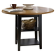 Liberty Furniture Al Fresco Drop Leaf Leg Table in Driftwood/Black 641-T4242