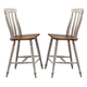 Liberty Furniture Al Fresco Slat Back Counter Chair (Set of 2) in Driftwood/Sand 841-B150024
