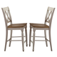 Liberty Furniture Al Fresco Double X Back Counter Chair (Set of 2)  in Driftwood/Sand  841-B300024